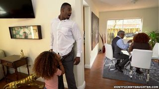 Horny Black Daughter Fucked In Front His horny housewives