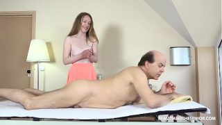 Hot Masseuse Gives Old Citizen a Hard fuck Time