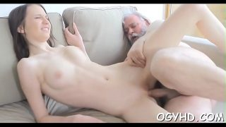 young juicy pussy Old chap fucks in alone