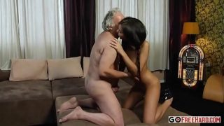 russian beautiful Hennessy with Old man fucking hard