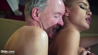 femdom hardcore fucking Old Man sexy hot babe in old young