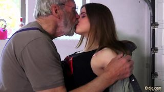 innocent petite young pussy for an old horny hairy grandpa