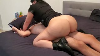 Curvy Busty Police Officer Lust Catches Suspect In Action