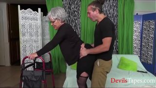 granny amateur Fucking A Really Old Granny- Kelly Leigh