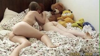 18years Real lesbian eats ass girls 18-year-old, they perform in anal scene