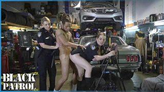 milf blowjob Busty White Cops Shut Down A Chop Shop And Ride